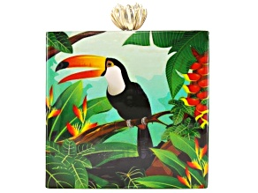 Toucan Multi-color Wooden Clutch