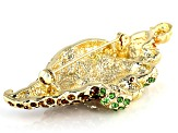 Swarovski Elements ™ Gold Tone Cornucopia Brooch