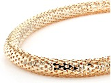 Crystal Gold tone snake necklace