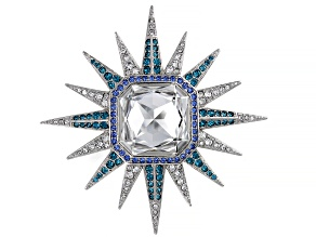 Multicolor Swarovski Elements ™ Silver Tone Celestial Brooch