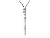 Off Park ® Collection, Round White Crystal Silver Tone Y Necklace