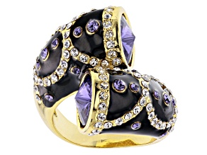 Swarovski Elements ™  Gold Tone Bypass Ring