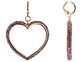 multi-Color Crystal Set of 3 Heart Earrings