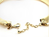 Off Park Collection™ Gold Tone White Crystal Cobra Necklace