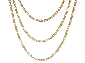 Gold Tone Byzantine Necklace