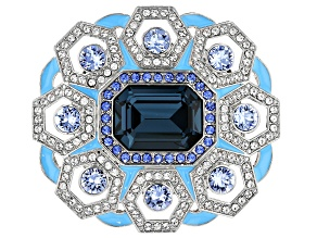 Multi-color Swarovski Elements ™ Silver Tone Brooch