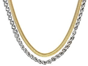 Gold & Silver Tone Set of 2 Chains