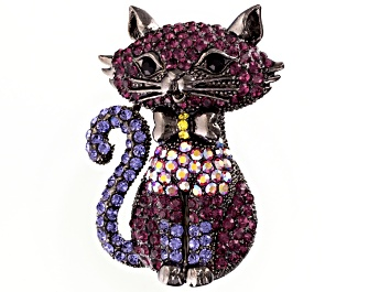 Free crochet pattern Cat brooch | DIY 100 Ideas | 265x354