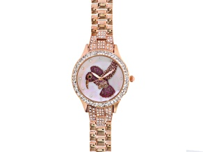 Multicolor Crystal Rose Tone Hummingbird Watch