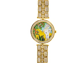 White Crystal Yellow Giraffe Watch