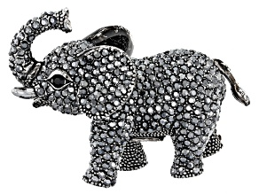 Black Swarovski Elements ™ Gunmetal Tone Elephant