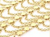 Gold Tone Statement Necklace