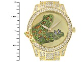 Multicolor Crystal Yellow Frog Watch