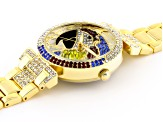 multicolor crystal Yellow parrot watch