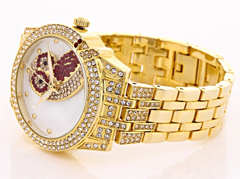multicolor crystal Yellow owl watch