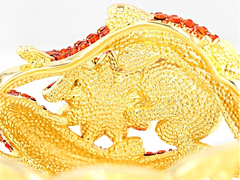 Multicolor Crystal Gold Tone Koi Fish Bracelet