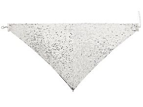Silver Tone Mesh Bandana Necklace