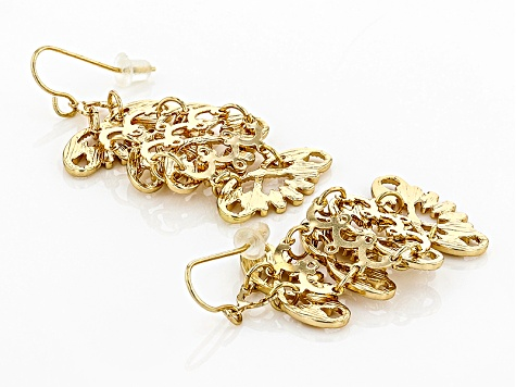 Gold Tone Dangle Earrings