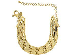 Gold Tone Multi Chain Bracelet