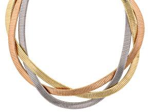 Tri Tone Braided Necklace