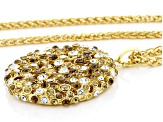 Multicolor Crystal Gold Tone Necklace