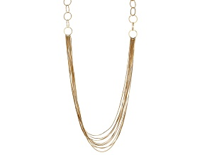 Gold Tone Multi Chain Necklace