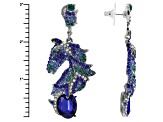 Multicolor Crystal Two Tone Horse Earrings