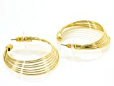 Gold Tone Circle Dangle Earrings
