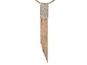 Crystal Gold Tone Tassel Pendant