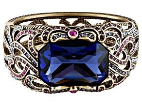 Antique Bronze Tone Multicolor Crystal Bracelet