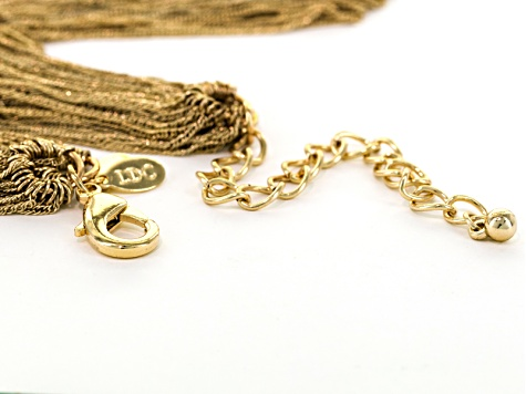 Gold Tone Multistrand Necklace