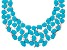 Imitation Turquoise White Crystal Silver Tone Statement Necklace