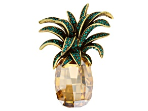 Multicolor Swarovski Elements ™ Pineapple Brooch