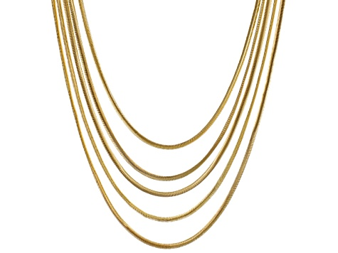 Gold Tone Multi Strand Necklace
