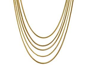 Gold Tone Multi Strand Necklace