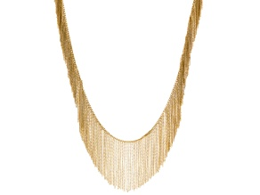 Gold Tone Fringe Necklace