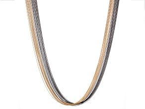 Two Tone Multi Strand Necklace