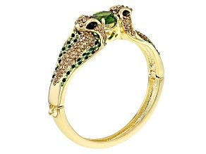 Crystal Gold Tone Snake Bracelet