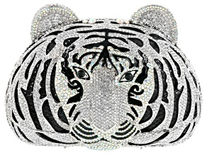 Off Park ® Collection Multicolor Crystal Silver Tone Tiger Clutch