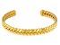 Gold Tone Herringbone Cuff Bracelet