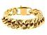 Gold Tone Mens Curb Link Chain Bracelet