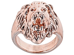 Off Park® Collection, Rose tone Mens lion ring
