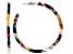 Multi-Color Resin Silver Tone Hoop Earrings