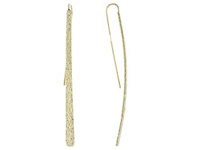 Gold Tone Elongated Earrings