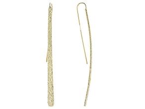 Gold Tone Elongated Earrings