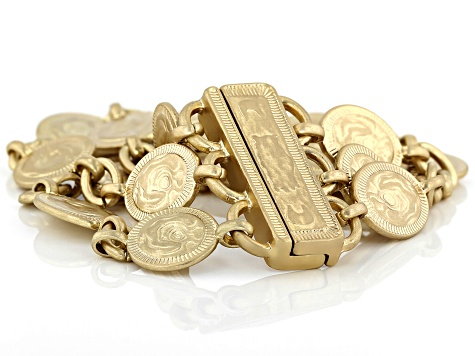 Gold Tone Multi-Row Bracelet