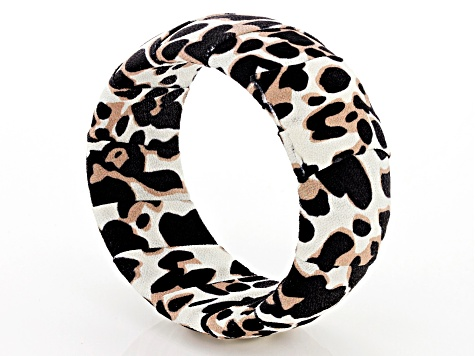 Leopard Print Fabric Bangle Bracelet