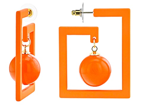 Orange Geometric Earrings