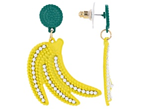 Painted Banana Dangle Earrings