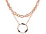 Rose Tone, Black Crystal Multi-Chain Necklace